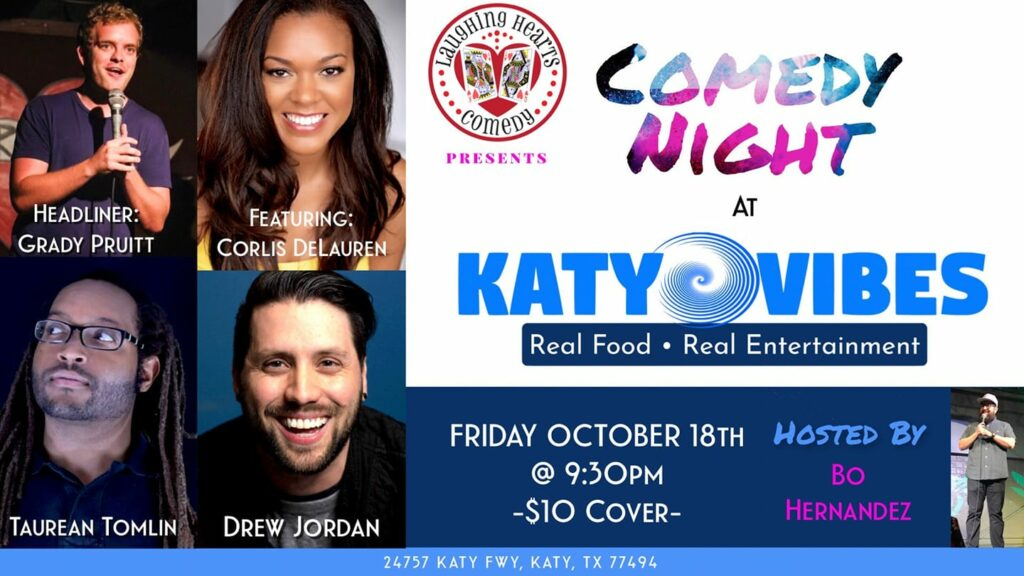 Comedy Night in Katy, TX Friday, October 18th