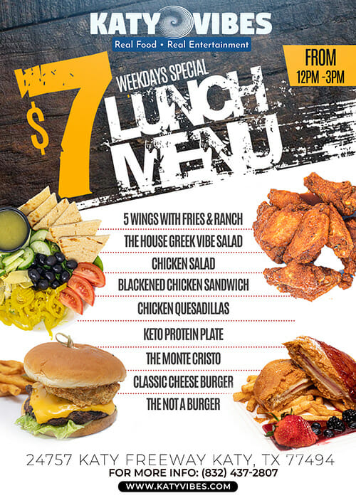 $7 Lunch Menu