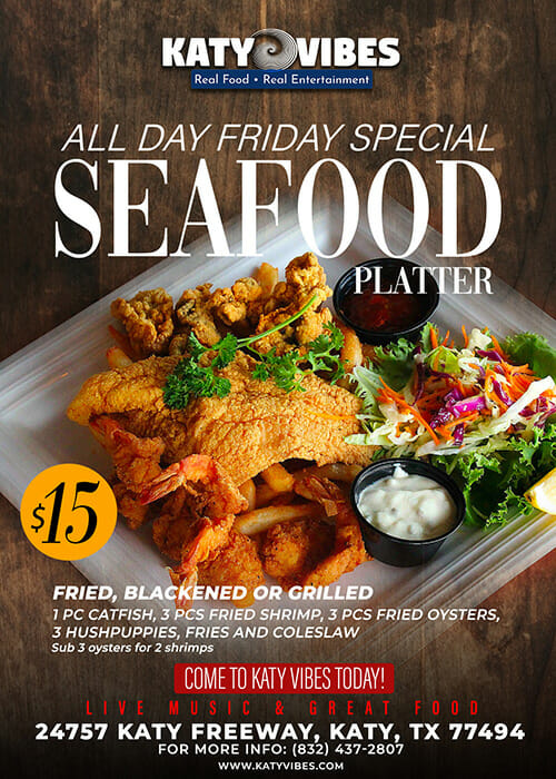 Friday Special - Seafood Platter $15