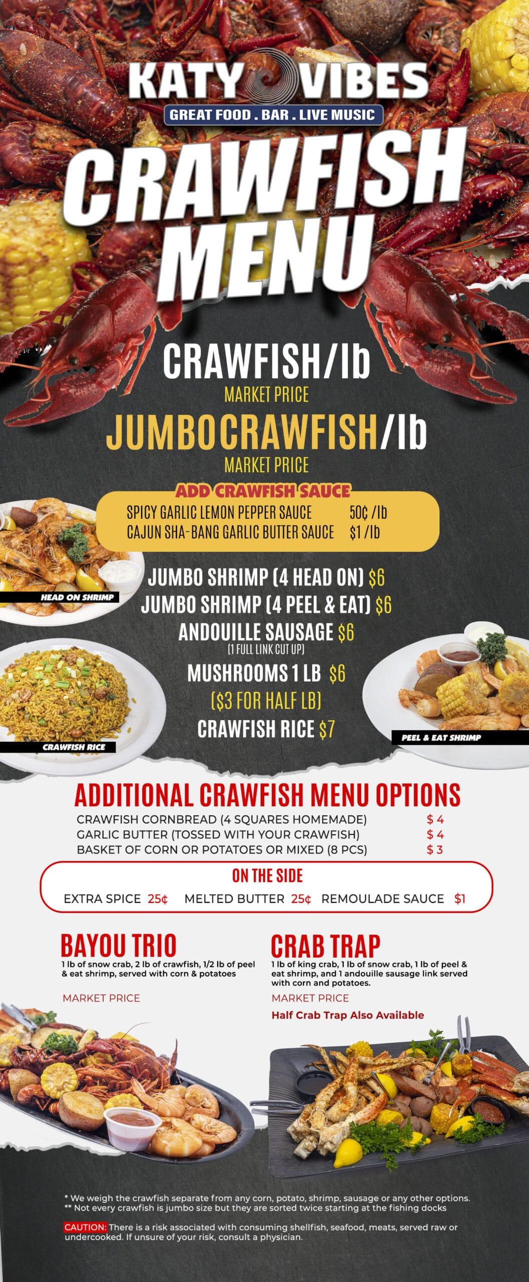 Crawfish Menu
