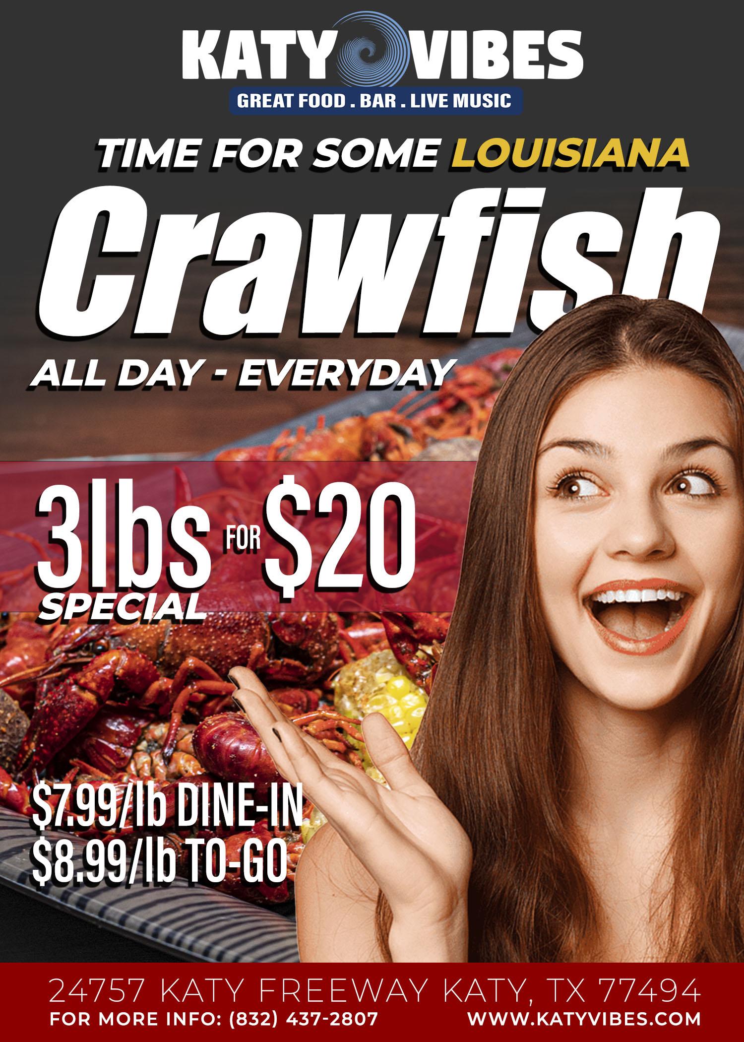 Crawfish 3lb-$20